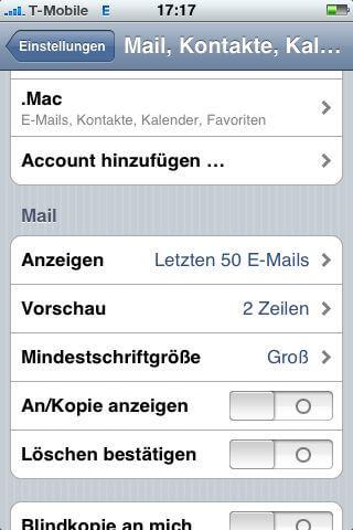 Account hinzufügen …